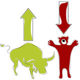 Bull Bear Stock Market. An image of bull bear stock market animal symbols Stock Images