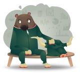 Bull Bear royalty free illustration