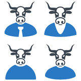 Bull Boss Flat Icons Stock Images
