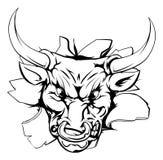 Bull breakthrough Stock Images