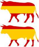 A bull bred in Spain. Illustration royalty free illustration