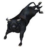Bull bucking - 3D render Royalty Free Stock Photography