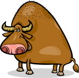 Bull or buffalo cartoon illustration Royalty Free Stock Photography
