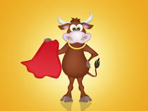 Bull in the bullfight Royalty Free Stock Photo