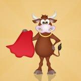 Bull in the bullfight Stock Images