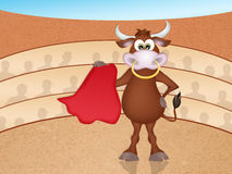 Bull in the bullfight Royalty Free Stock Images