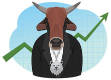 Bull businessman Stock Images