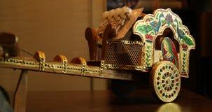 Bull cart Decorative piece closeup stock video footage