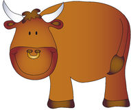 Bull cartoon vector illustration