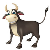 Bull cartoon character. 3d rendered illustration of Bull cartoon character Stock Photography
