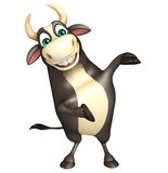 Bull cartoon character. 3d rendered illustration of Bull cartoon character Royalty Free Stock Images