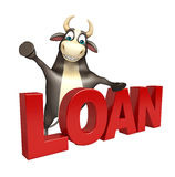 Bull cartoon character. 3d rendered illustration of Bull cartoon character Stock Image
