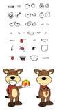 Bull cartoon expressions set04 Stock Photography