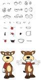 Bull cartoon expressions set2 Royalty Free Stock Photography