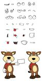 Bull cartoon expressions set3 Royalty Free Stock Images