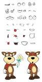 Bull cartoon expressions set4 Stock Image