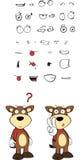 Bull cartoon expressions set4 Stock Photography