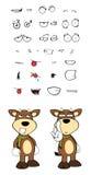 Bull cartoon expressions set5 Stock Photos