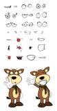 Bull cartoon expressions set6 Royalty Free Stock Photo