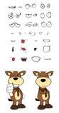 Bull cartoon expressions set7 Royalty Free Stock Photography