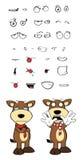 Bull cartoon expressions set8 Stock Photo