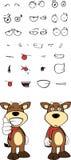 Bull cartoon expressions set9 Stock Image