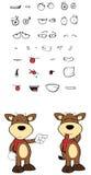 Bull cartoon expressions set0 Stock Photography