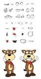 Bull cartoon expressions set01 Stock Photos
