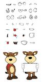 Bull cartoon expressions set02 Royalty Free Stock Images