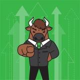 Bull character design.stock concept. royalty free illustration