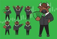 Bull character design.stock concept royalty free illustration
