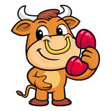 Bull Character just calls me back when you have more time. Royalty Free Stock Images