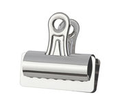 Bull Clip (with clipping path). Bull Clip (with a clipping path) isolated on white. Full focus front & back Royalty Free Stock Image