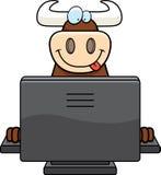 Bull Computer Stock Image