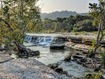 Bull Creek in Austin TX. Water stream in bull creek in Austin TX royalty free stock photo