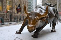 Bull de carga, New York City stock de ilustración