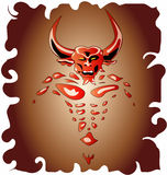 Bull Demon. Easy to resize or change color royalty free illustration