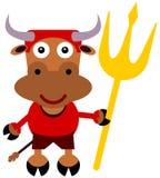 Bull Devil. An illustration of a bull dressed like a devil stock illustration