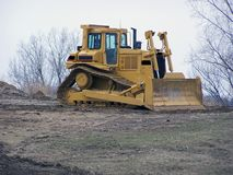 Bull dozer. At contruction site Stock Image