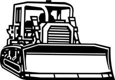 Bull Dozer Illustration. Line Art Illustration of a Bull Dozer vector illustration