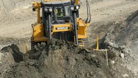 Bull dozer stock video footage