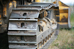 Bull dozer tracks Royalty Free Stock Image