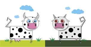 Bull e mucca Fotografia Stock