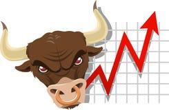 Bull economy business finance chart Royalty Free Stock Photo