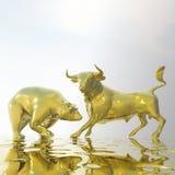 Bull ed orso Fotografie Stock Libere da Diritti