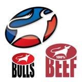 Bull emblem Royalty Free Stock Photos