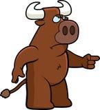 Bull enojada stock de ilustración