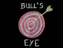 Bull, eye, chalkboard, Stock Photography