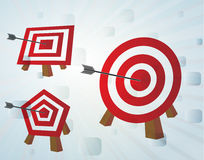 Bull eye set Stock Photo