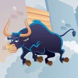 Bull fâché Images libres de droits